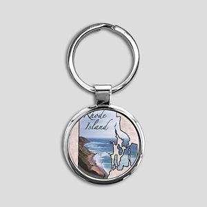 Rhode Island Round Keychain