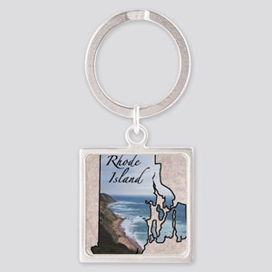 Rhode Island Square Keychain