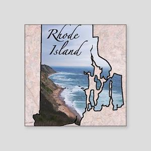 "Rhode Island Square Sticker 3"" x 3"""