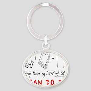 EarlyMorningSKsite Oval Keychain