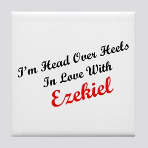 In Love with Ezekiel Tile Coaster