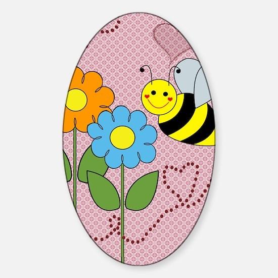beeflowersflipflops Sticker (Oval)