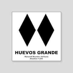 "Huevos Grande Long Sleeve T Square Sticker 3"" x 3"""