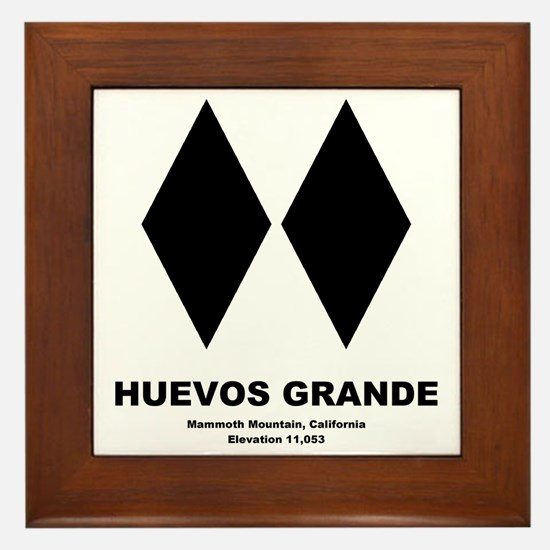 Huevos Grande Long Sleeve T Framed Tile