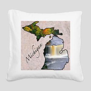 Michigan Square Canvas Pillow