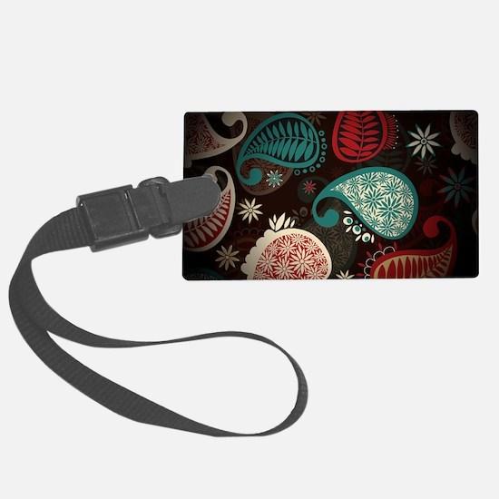 brown paisley Luggage Tag