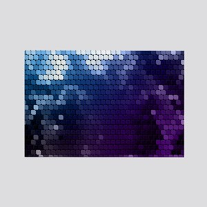 white blue purple tile Rectangle Magnet