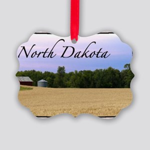 North Dakota Picture Ornament