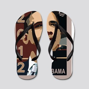 Copy of obama 2012 face Flip Flops