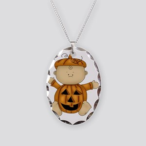 HALLOWEEN BABIES 01 Necklace Oval Charm