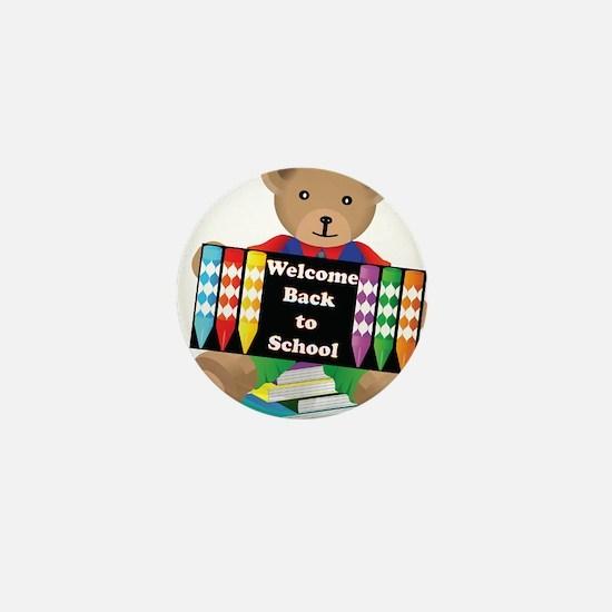 Back to School Bear Mini Button