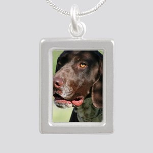 German Shorthaired Point Silver Portrait Necklace
