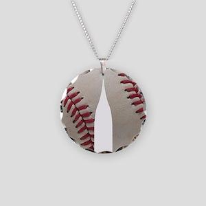 Baseball Necklace Circle Charm