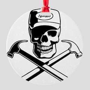 carpenter-pirate-T Round Ornament