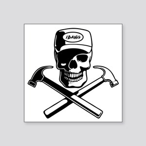 "carpenter-pirate-T Square Sticker 3"" x 3"""