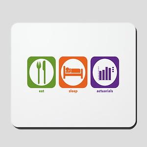 Eat Sleep Actuarials Mousepad