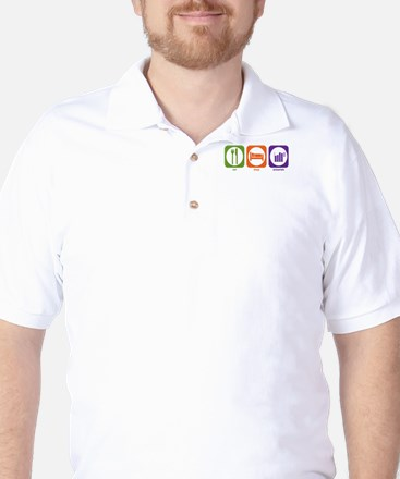 Eat Sleep Actuarials Golf Shirt