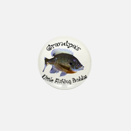 Grandpas fishing buddy Mini Button
