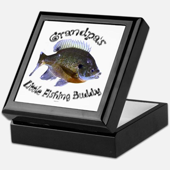 Grandpas fishing buddy Keepsake Box