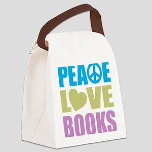 peacelovebooks Canvas Lunch Bag