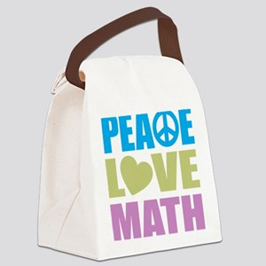 peacelovemath Canvas Lunch Bag