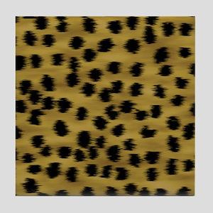 Faux Cheetah Print Pattern. Tile Coaster