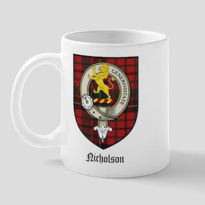 Nicholson Clan Crest Tartan Mug