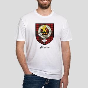 Nicholson Clan Crest Tartan Fitted T-Shirt