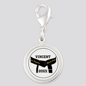Martial Arts 1St Degree Black Belt Silver Charm
