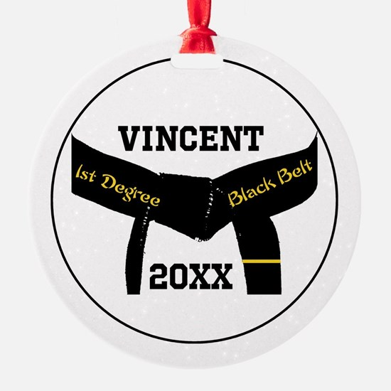 Martial Arts 1st Degree Black Belt Ornament