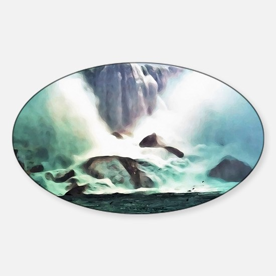 Niagara Falls Sticker (Oval)