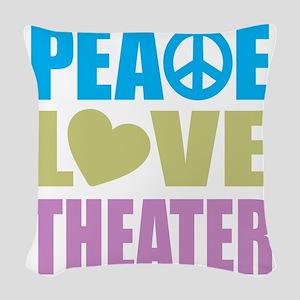 peacelovetheater Woven Throw Pillow