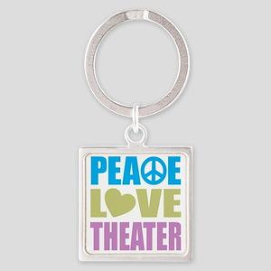 peacelovetheater Square Keychain