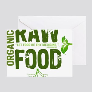 RAWFOODBUTTON Greeting Card