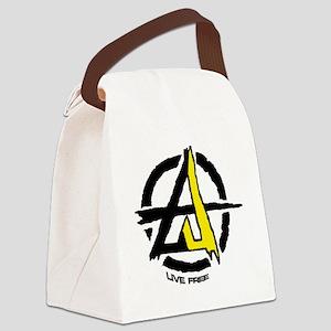 Anarchist - Voluntarist tattoo 2  Canvas Lunch Bag