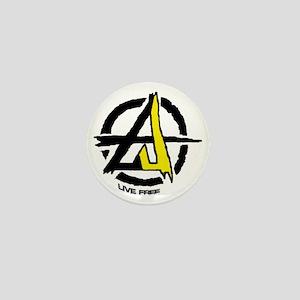 Anarchist - Voluntarist tattoo 2  Mini Button