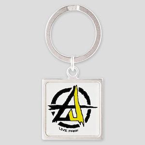Anarchist - Voluntarist tattoo 2  Square Keychain