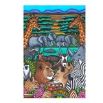 Colours Africa Post Card Postcards (package Of 8)