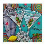 Retro Martini Tile Coaster