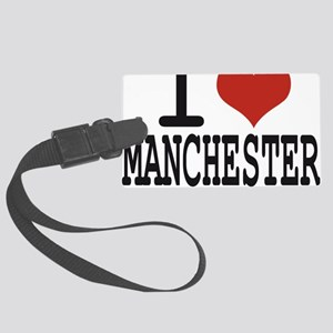 I love Manchester Large Luggage Tag