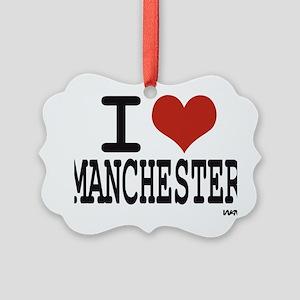 I love Manchester Picture Ornament