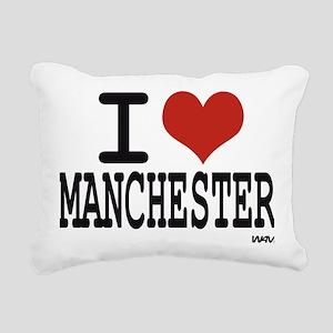 I love Manchester Rectangular Canvas Pillow