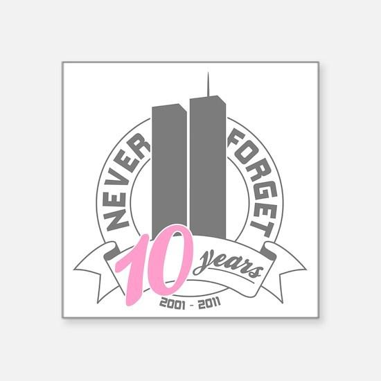 "10yrs-womans-2 Square Sticker 3"" x 3"""