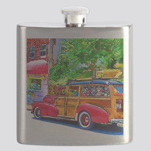 Woody Art Flask