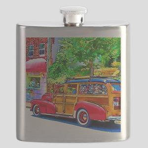Woody Art Flask
