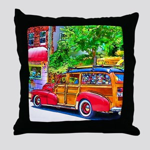 Woody Art Throw Pillow