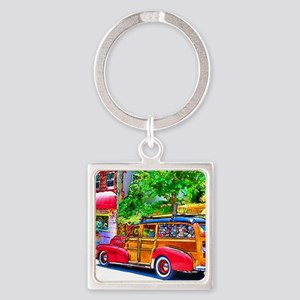 Woody Art Square Keychain