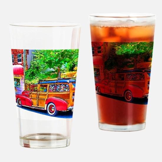 Woody Art Drinking Glass
