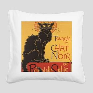 chatnoirposter Square Canvas Pillow