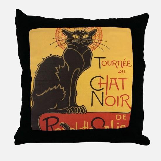 chatnoirposter Throw Pillow